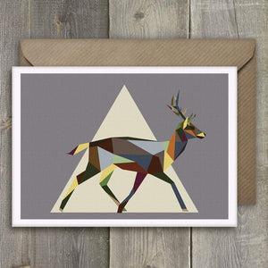a Greeting Cards Set of 4 Geometric Running Wildlife - Stencilize