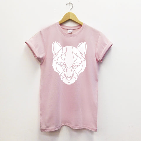 Geometric Puma Cat Unisex T-shirt - Stencilize