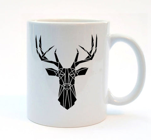 Geometric Stag Mug by Stencilize
