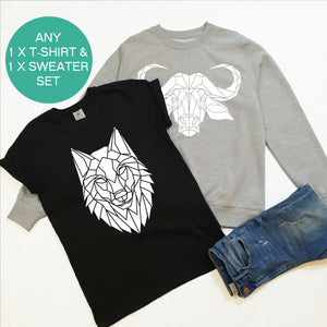 Sweater and T-shirt Bundle, Build Your Own Adult Set
