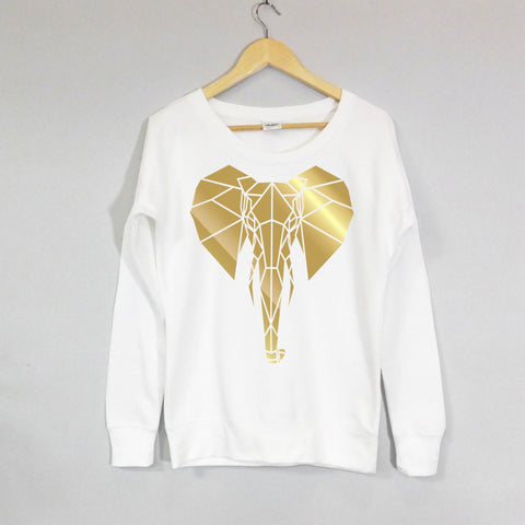 Elephant Scoop Neck Girls Sweater Limited edition