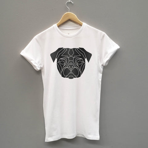 Geometric Pug T-shirt - Stencilize