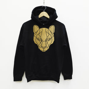 Puma Cat Geometric Animal Hoodie, - Stencilize