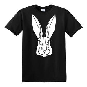 Geometric Bunny Kids T-shirt - Stencilize