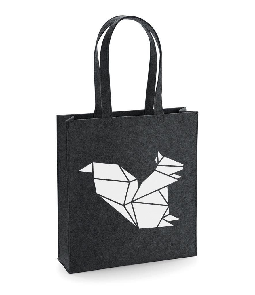 Felt Origami Squirrel Tote Bag