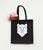 Felt Geometric Bear Tote Bag - Stencilize