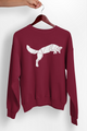 Jumping Arctic Fox Geometric Graphic Sweatshirt - Stencilize