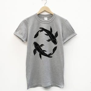 Geometric Koi Fish Unisex T-shirt - Stencilize