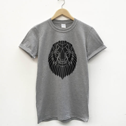 Geometric Lion T-shirt, Softstyle - Stencilize