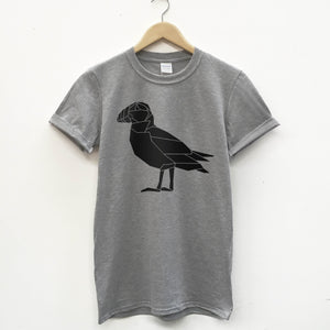 Geometric puffin T-shirt - Stencilize