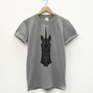 Geometric Unicorn Unisex T-shirt - Stencilize