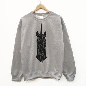 Unicorn graphic print unisex sweatshirt - Stencilize