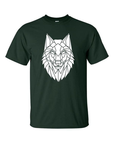 Stencilize Graphic Wolf T-Shirt, Geometric Wolf Design