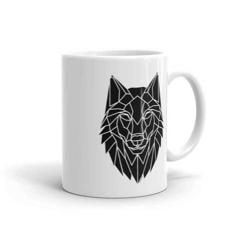 Geometric Wolf Head mug - Stencilize