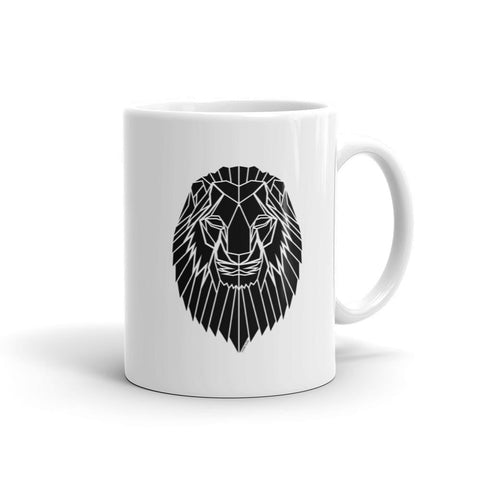 Geometric Lion Graphic Mug by Stencilize - Stencilize
