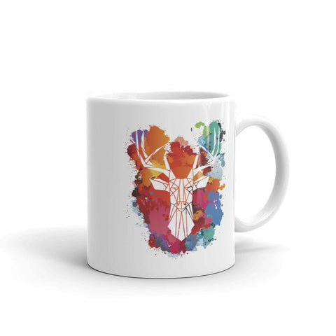 Paint Splat Stag Mug - Stencilize