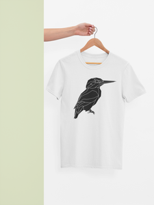 Geometric Kingfisher Print T-Shirt - Stencilize