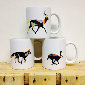 Geometric Irish Deer Graphic Mug by Stencilize - Stencilize