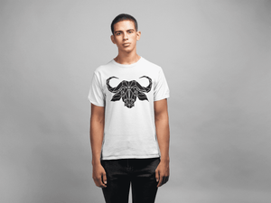 Geometric Buffalo Unisex T-shirt - Stencilize