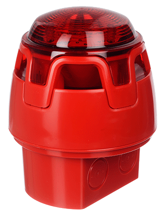 CWSS-RR-W5 KAC Red Body Deep Base Red LED Sounder Beacon (IP65)