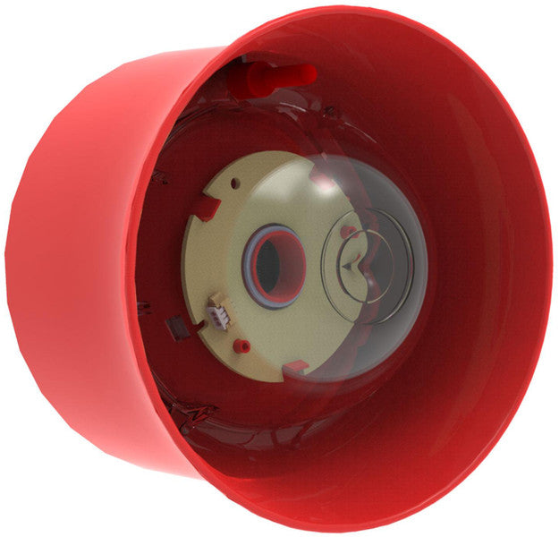 CHQ-WSB2/WL Wall Sounder Beacon - Red case, white LEDs