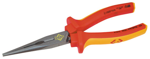 "431014 VDE Snipe Nose Pliers - Straight 200mm (8"")"