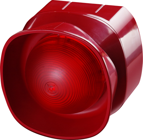 55000-293 Apollo Multi-Tone Open Area Sounder Beacon - Red with Isolator
