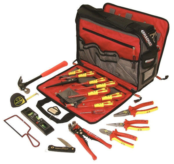 595003 Electrician's 19 Piece Premium Tool Kit