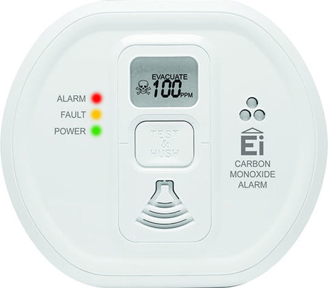 Ei 208DWRF RadioLINK CO Alarm With Digital Display & Lithium Backup