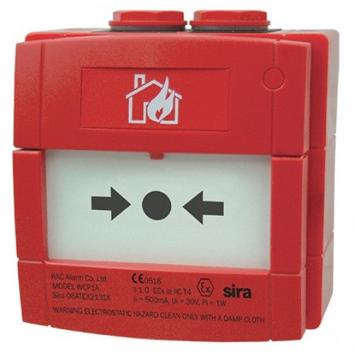 CCP-W-IS Intrinsically Safe Weatherproof Call Point with Red Back Box