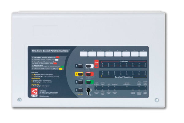 CFP708-2 CFP AlarmSense 8 Zone Two Wire Fire Alarm Panel (Keypad/keyswitch Entry)