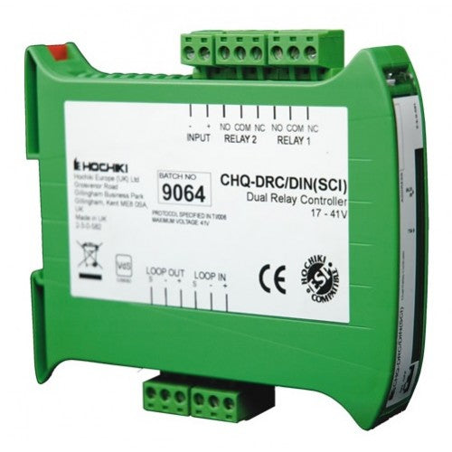 CHQ-DRC2/DIN(SCI) Dual Relay Controller - DIN Enclosure with SCI