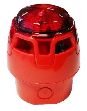 CWSS-RR-W3 Red Body Deep Base Red Sounder Beacon (IP65)