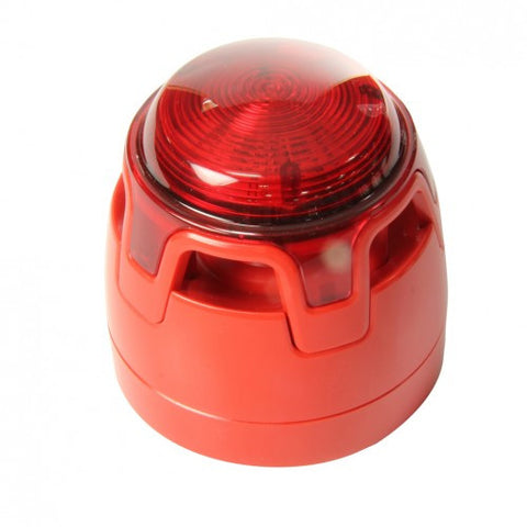 CWSS-RR-S5 KAC Red Body Shallow Base Red LED Sounder Beacon