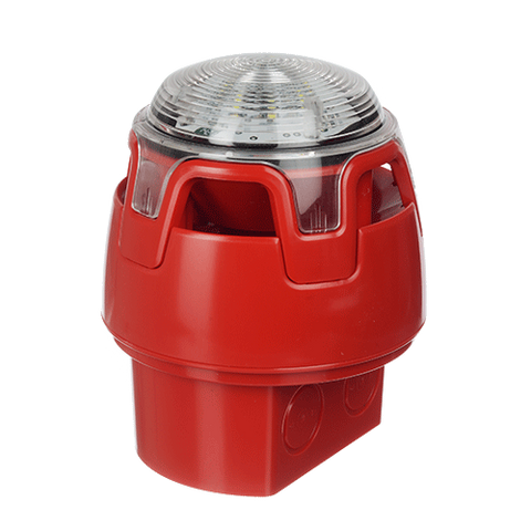 CWSS-RW-W5 KAC Red Body Deep Base Red LED Sounder Beacon (IP65)