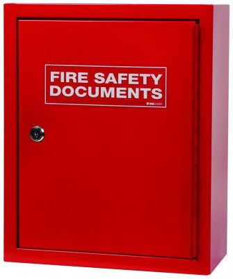FMDC/RED Red Document Box Large Metal + Key Lock