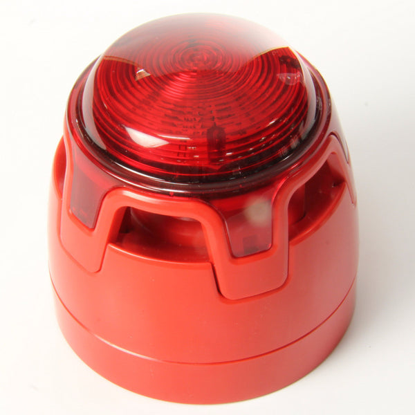 CWSS-RR-S3 KAC Red Body Shallow Base Red Sounder Beacon