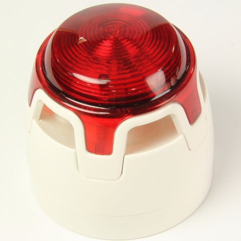 CWSS-WR-S5 KAC White Body Shallow Base Red LED Sounder Beacon