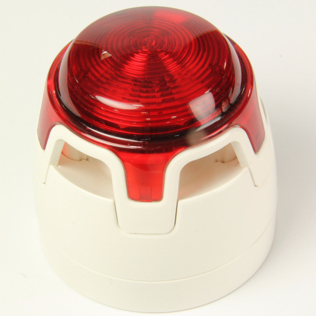 CWSS-WR-S3 White Body Deep Base Red Sounder Beacon