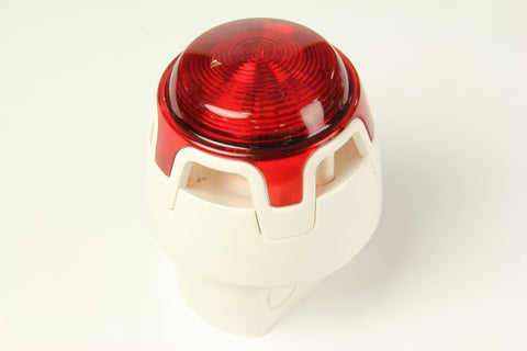 CWSS-WR-W3 White Body Deep Base Red Sounder Beacon (IP65)