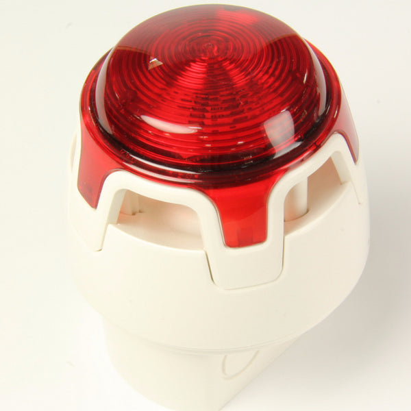 CWSS-WR-W5 KAC White Body Deep Base Red LED Sounder Beacon (IP65)