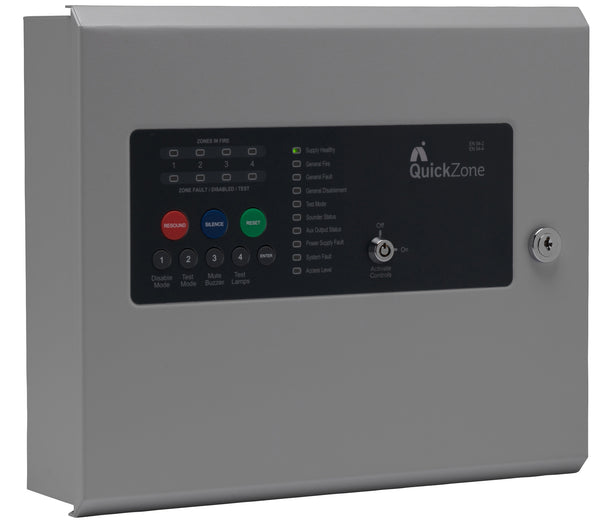 QZ-4 Advanced Quickzone 4 Zone Conventional Fire Alarm Panel