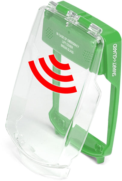 SG-FS-G Smart+Guard Call Point Cover, Flush Sounder, GREEN