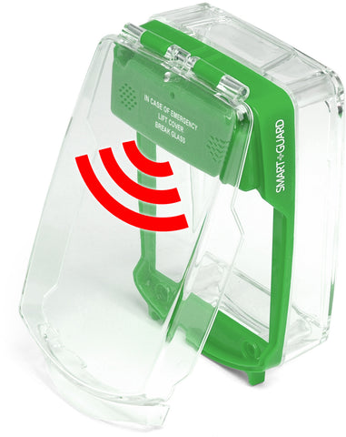 SG-SS-G Smart+Guard Call Point Cover, Surface, Sounder, GREEN
