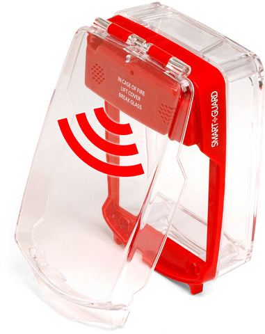 SG-SS-R Smart+Guard Call Point Cover, Surface, Sounder, RED