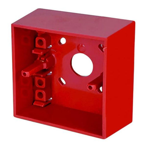 SR MOUNTING BOX Surface Mounting Call Point Back Box (Red)