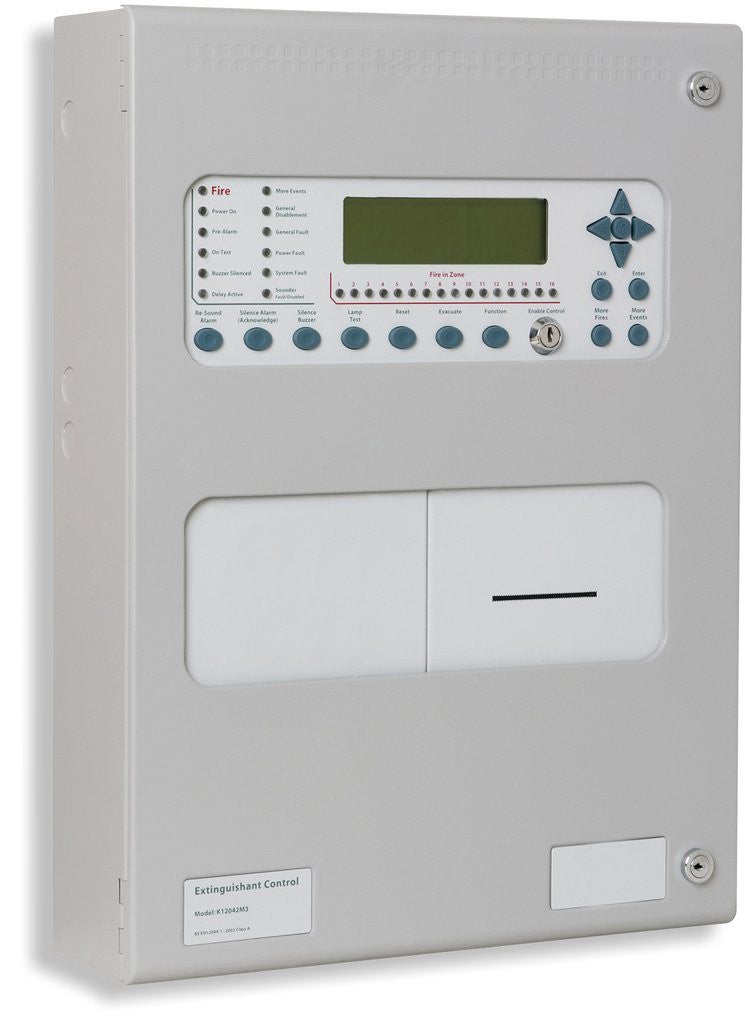 H80161M3P Kentec Syncro AS Analogue Addressable Fire Control Panel - 1 Loop - Hochiki ESP Protocol Large Enclosure