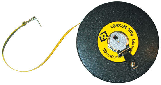 T3561-100 30m (100ft) Measuring Tape - Fibreglass