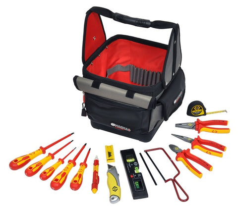 T5952 Electrician's 14 Piece Tool Tote Kit