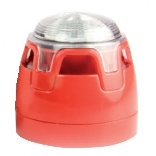 CWSS-RW-S5 Red Body Shallow Base Red LED Sounder Beacon